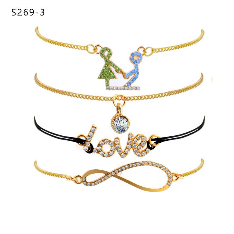 Fashion sweet love hand bracelet simple jewelry wholesale NHPV197430