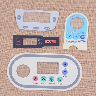 厂家定制音响控制面板 PC面贴丝印加工 PVC麦拉片PET面板膜铭板