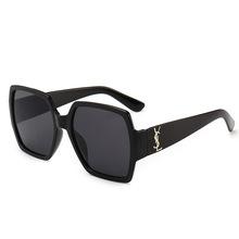 2018欧美潮流新款太阳镜女 时尚方框炫彩墨镜 复古海洋片眼镜9790