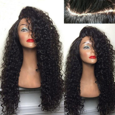 Curly Hair Wigs Parrucche per capelli ricci One piece of African small curl puffy explosion pure wig head cover