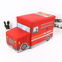 Đồ chơi lưu trữ phân có thể gập lại tùy chỉnh không dệt xe sáng tạo phim hoạt hình trẻ em lưu trữ đồ chơi phân lớn Phân lưu trữ