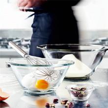 波米欧利意大利进口餐具透明套装玻璃盆 圆形搅拌钢化玻璃沙拉碗