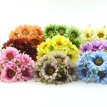 批发5公分高档仿真非洲菊绢布花束小雏把花 饰品配件DIY花环材料