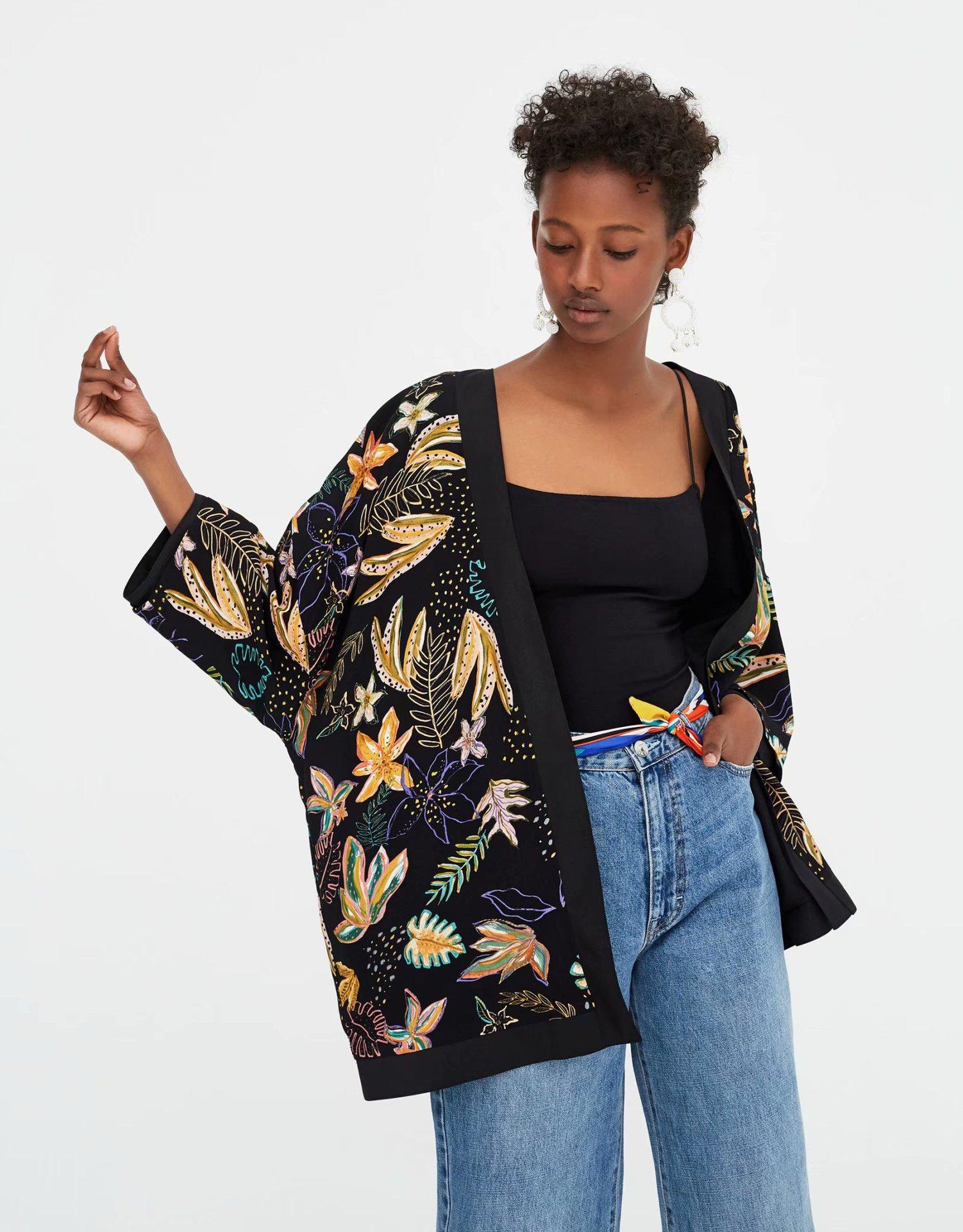 Polyester Fashioncoat(Picture color -L) NHAM4441-Picture-color-L