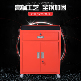 Tool cabinet custom-made mobile thickening tool cabinet single red tool car