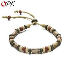 民族风创意饰品 陶瓷珠子手链 手工编织串珠手绳 男女通用款BS003