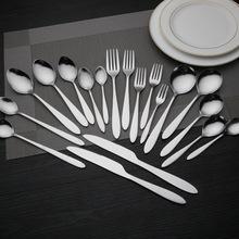 厂家批发不锈钢餐具小勺匙 光柄尖尾刻LOGO冰淇淋勺汤勺 1010勺子