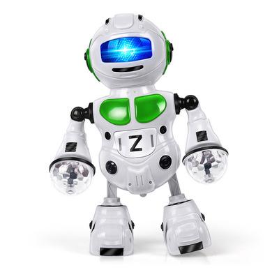 Nhỏ duy nhất sản phẩm tốt nhất Lezhou vũ trụ điện robot phong cách vũ công gió xoay ánh sáng âm nhạc