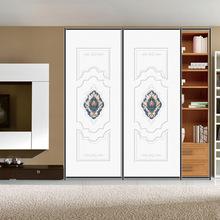 刺繡皮紋膜衣柜板材 高光 三氯氰胺高密度歐式室內裝飾板材