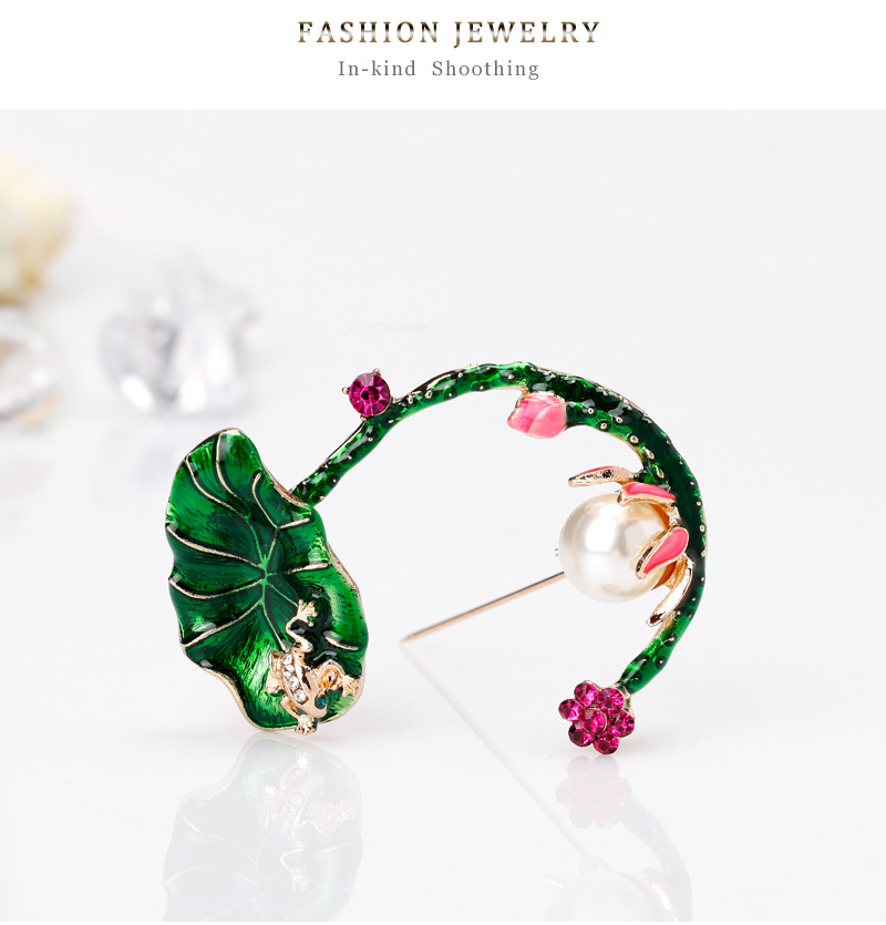 Alloy Korea Flowers brooch(AL265-A) NHDR2761-AL265-A