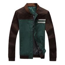 速卖通外贸新款秋季男士休闲纯棉夹克修身时尚水洗男式大码外套