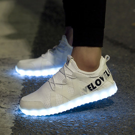 Summer Fashion trend New Light-emitting shoes led Lamp colorful dazzling Lamp usb charging Interface Men and Women couple shoes Tide