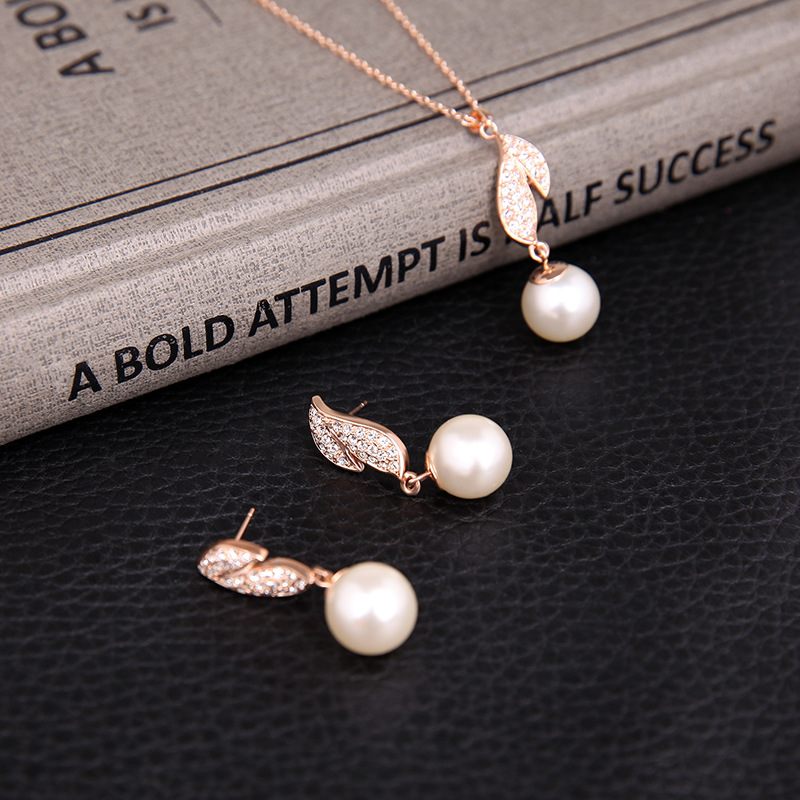 Alloy Fashionnecklace(Rose gold) NHXS1525-Rose gold