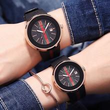 GUOU新款时尚女表潮流个性运动带日历男士硅胶表带情侣表中性手表