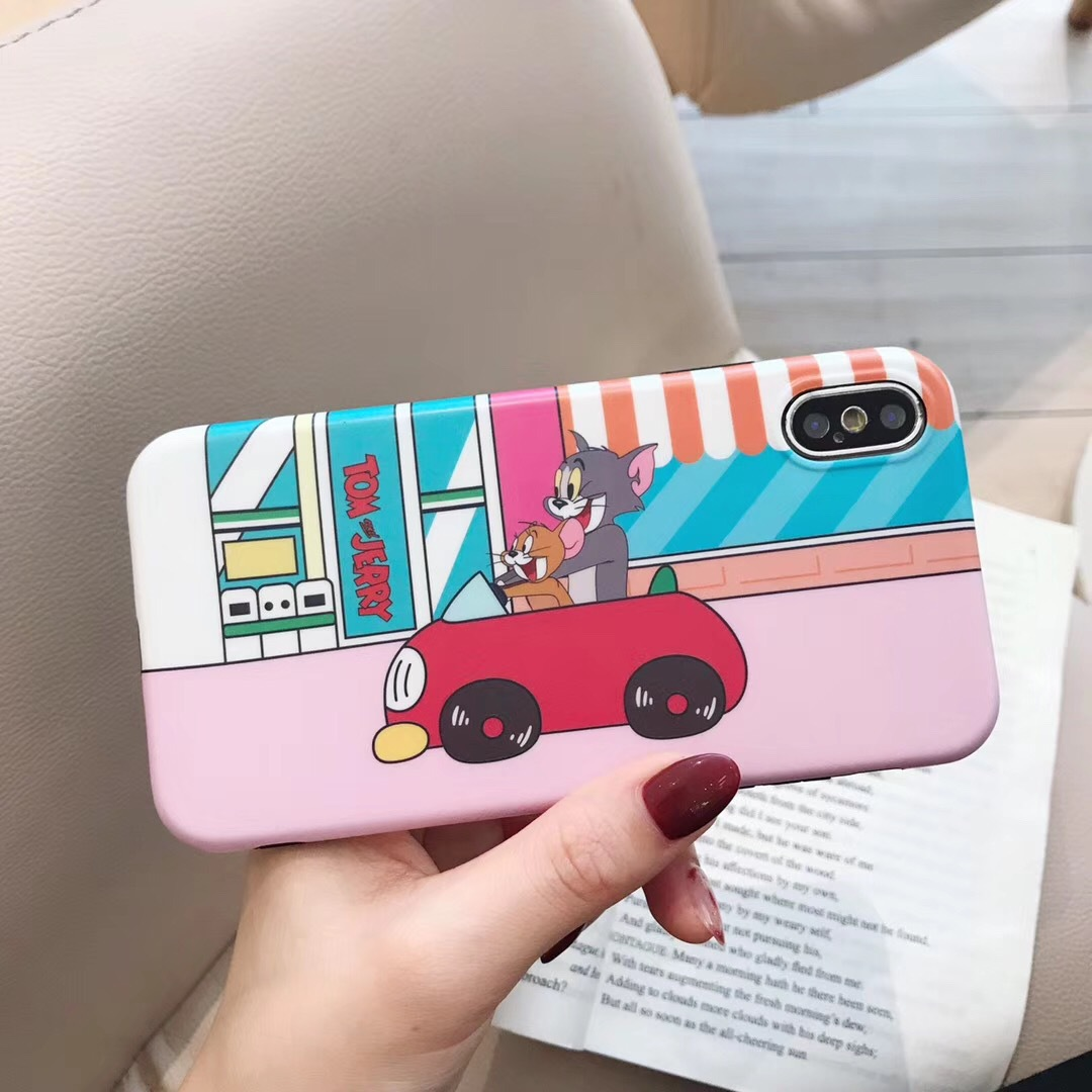 Tom cat new iPhoneXS MAX mobile phone case 8Plus protective cover cat and mouse cartoon soft shell XR shell