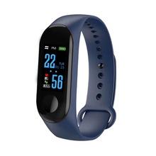 M3智能手环计步器心率血压血氧蓝牙运动智能手环工厂直销礼品
