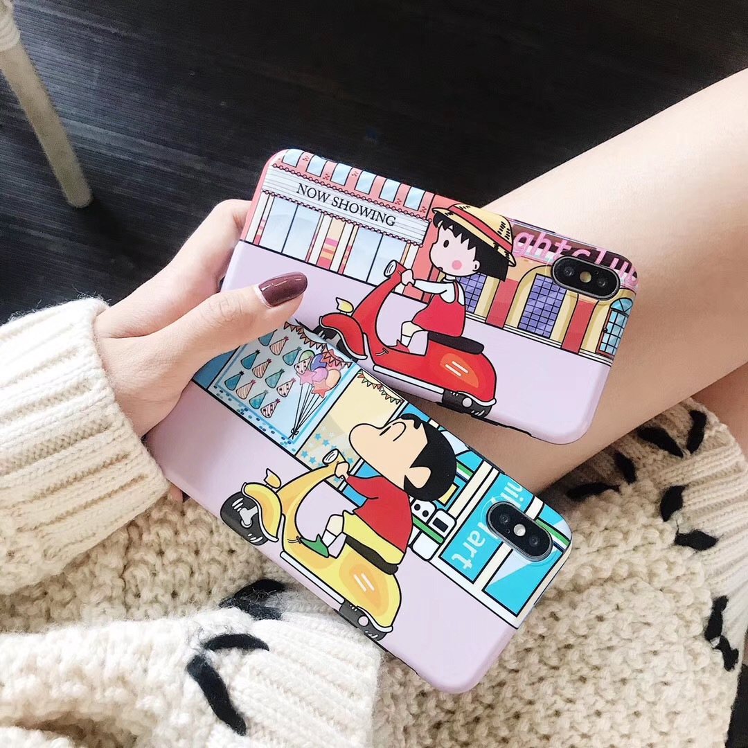 New small ball small new cartoon for Apple x mobile phone shell female personality creative iphone7/8plus soft shell