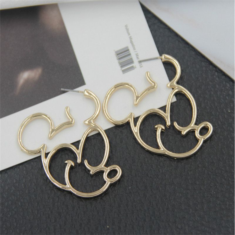 Alloy Korea Cartoon earring  (Alloy) NHBQ1835-Alloy
