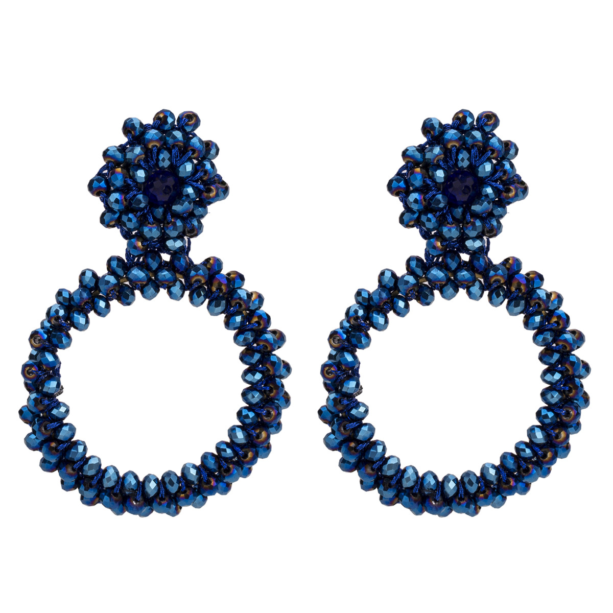 Alloy Fashion Geometric earring  (blue) NHJE1655-blue