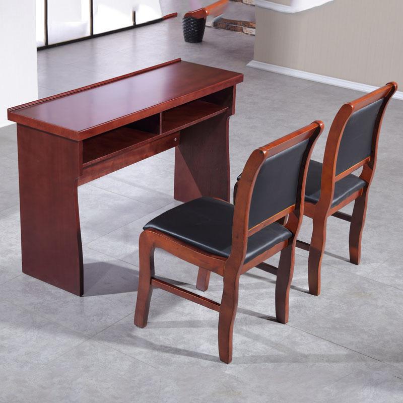 廠家定制油漆會議桌實木皮會議課桌培訓桌會議室桌椅組合雙人條桌