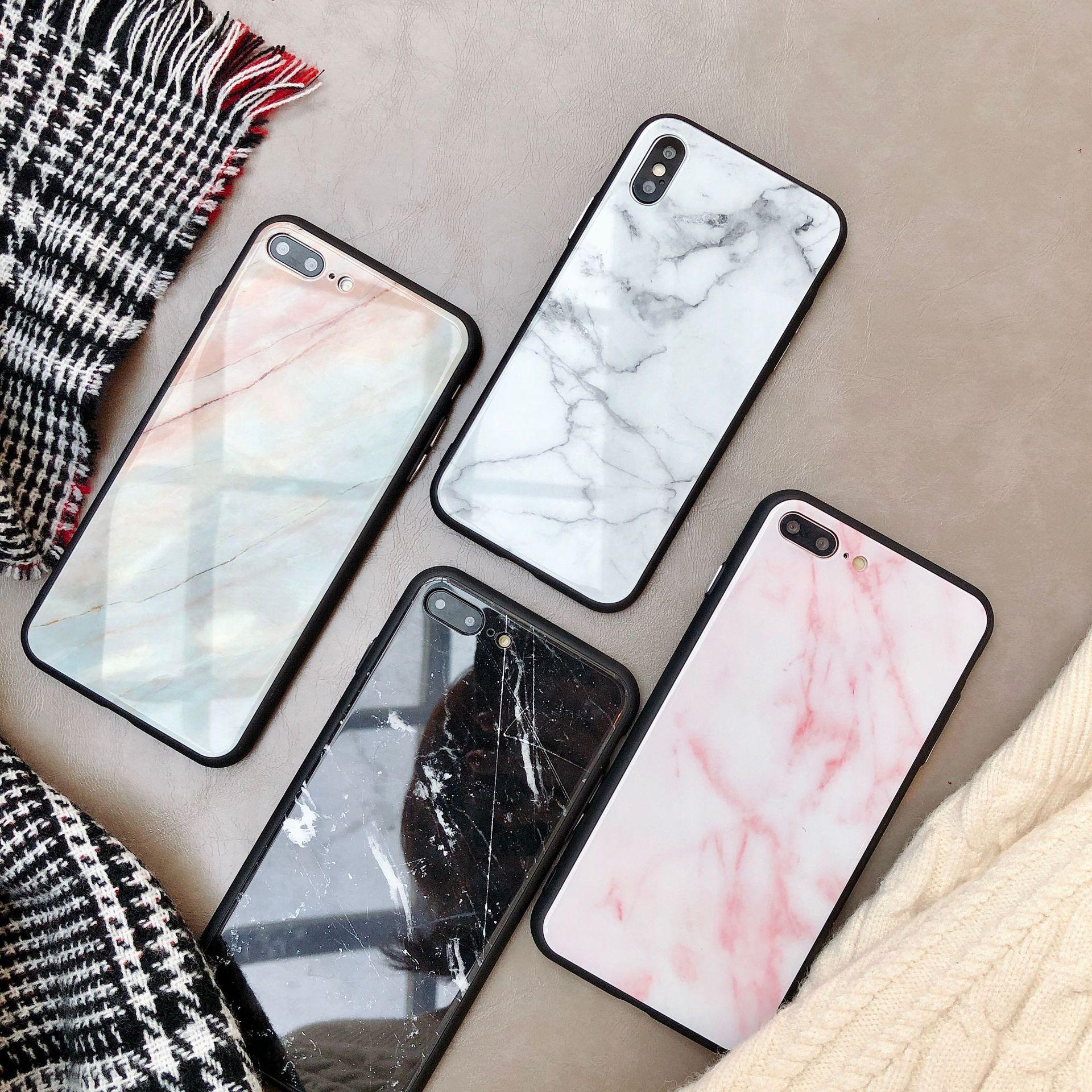 大理石玻璃壳11Pro/Max苹果X/XS/XR适用手机壳iPhone7p/8plus个性
