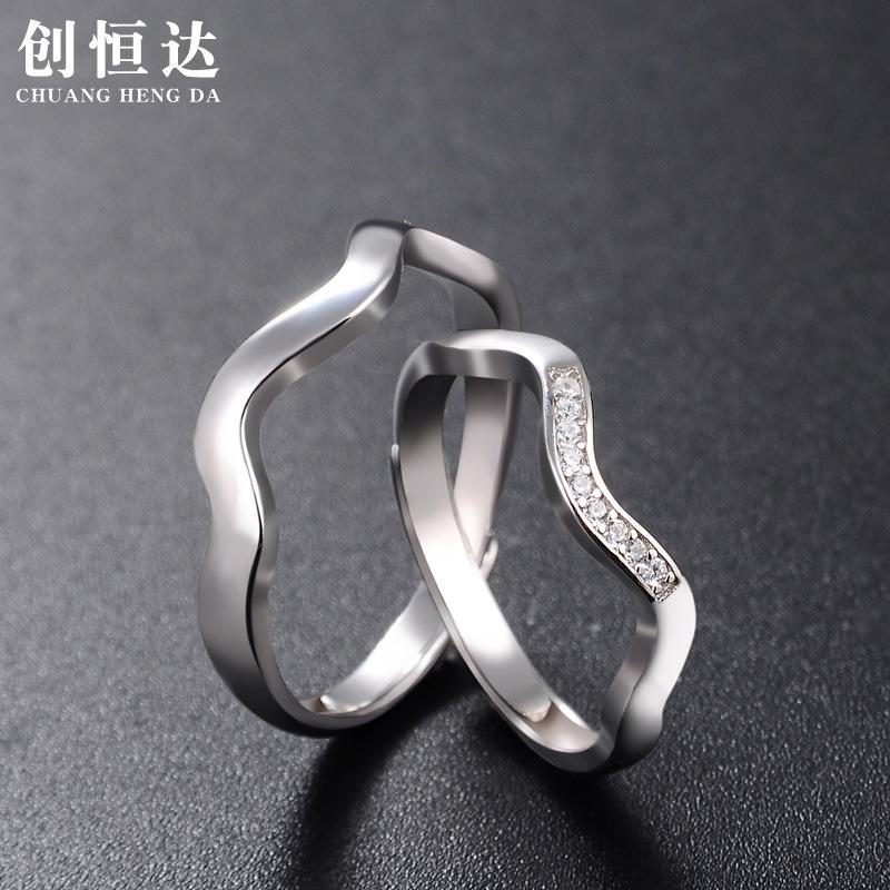 厂家定制s925纯银戒指时尚首饰品批发指环一件代发