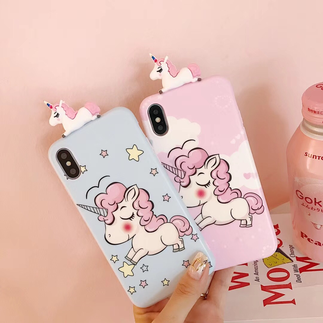 Eyelash color horse iPhonex mobile phone shell new Unicorn apple 8 silicone mobile phone shell iphone7 protective cover