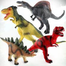 厂家直销恐龙世界搪胶填充棉按压会发声仿真恐龙模型摆件儿童玩具