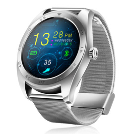 K89 Bluetooth smartwatch compatible with ios and Android dual system Heart rate Monitoring Bluetooth Metal strap Watch
