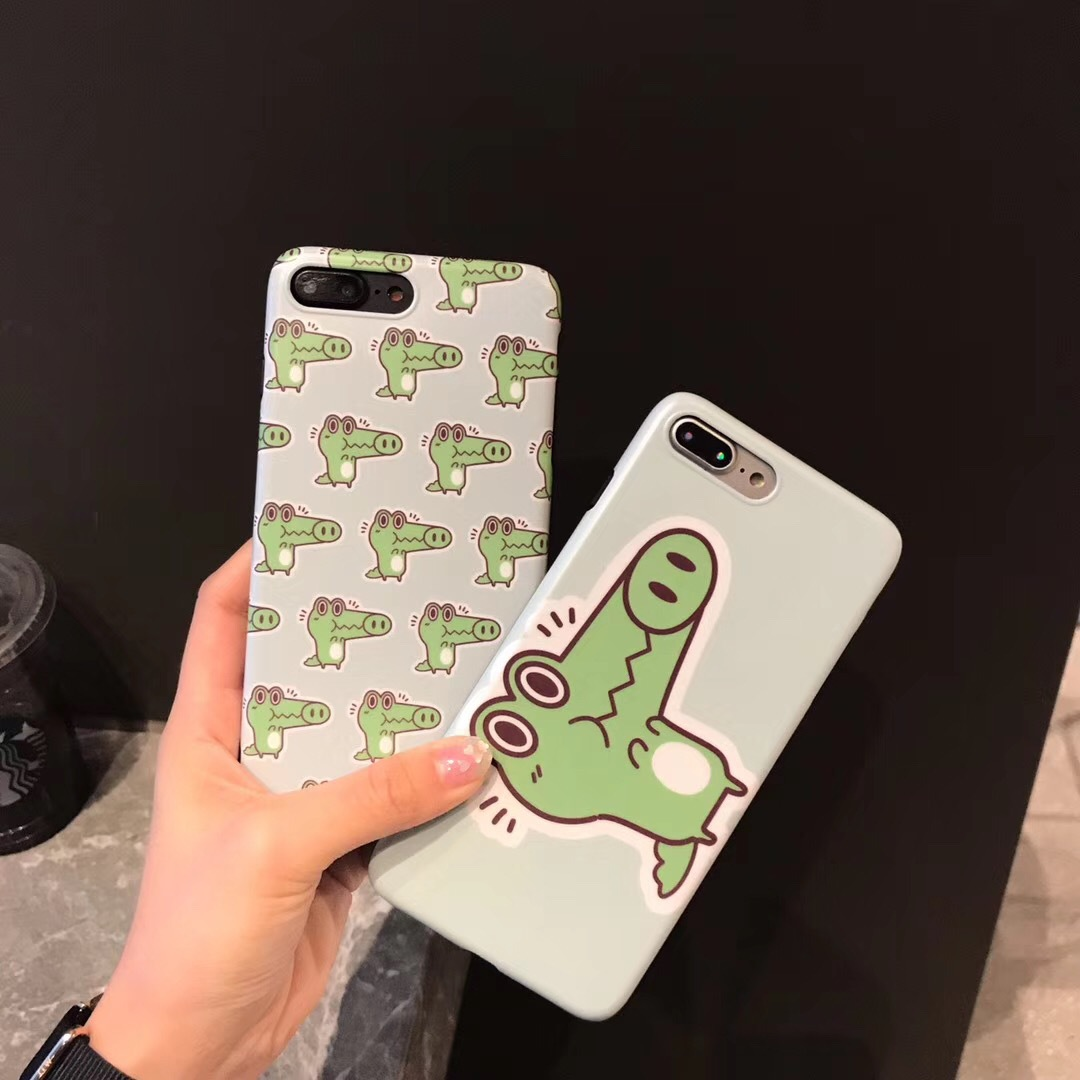 Ins cute green small dinosaur for apple x mobile phone shell iphone8plus all-inclusive anti-fall 7 personality female models