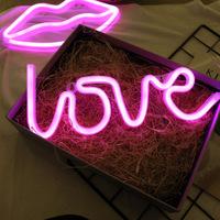 Amazon, eBay Ins неона горячего LED мотив ночь свет декоративные огни любовь любовь Flamingo