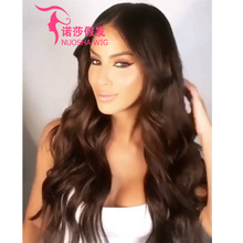 new product explosion models Europe and America wigs ladies gradient dyed long curly hair rose net wig set