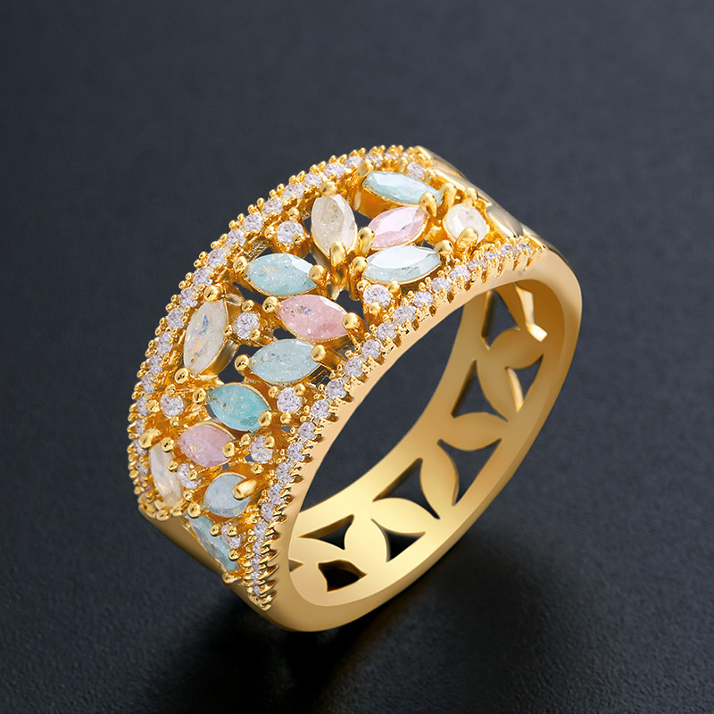 Copper Simple  Ring  Alloy7  Fine Jewelry NHAS0017Alloy7