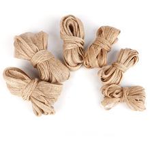 麻制织带耳环diy饰品材料 做发饰发夹发箍蝴蝶结织带缎带配件5米