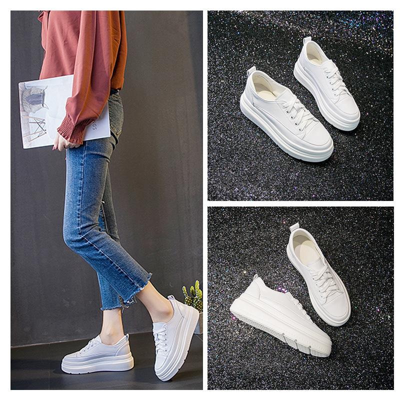 网红明星款2020春夏季女鞋新款内增高单鞋女系带休闲运动学生鞋女