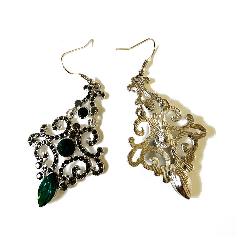 Alloy Fashion  earring  (Green earrings) NHOM0746-Green-earrings