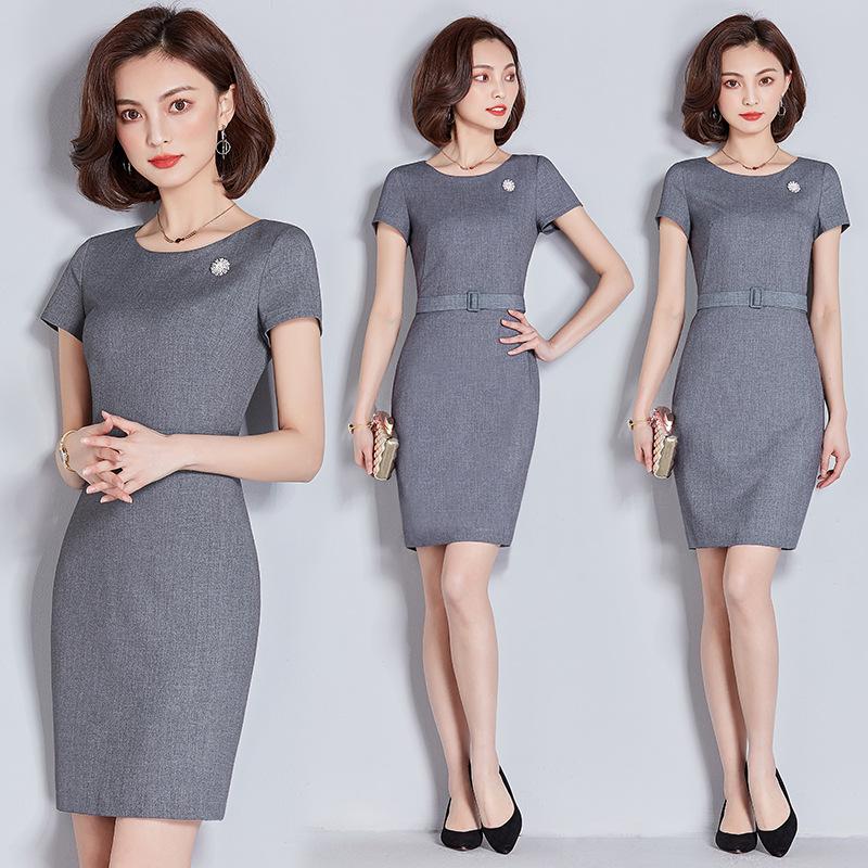 2020夏季新款时尚气质ol职业装女套装  正装衬衫套裙 名媛工作服