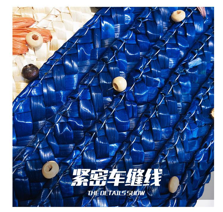 Summer new fashion handbag shoulder bag Korean fashion messenger bag wild straw bag wholesale NHGA211990