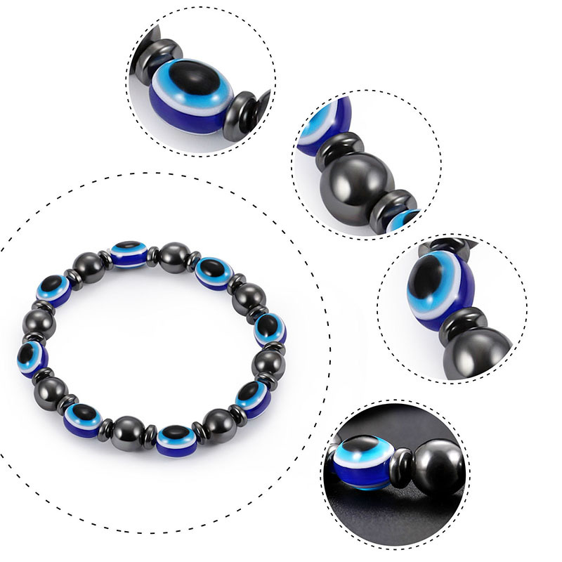 Fashion Natural Stone Inlaid precious stones Bracelets Geometric Steel color  NHLP0910Steel color