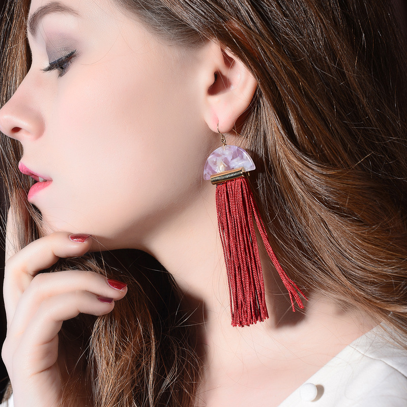 Alloy Fashion Tassel earring(Photo Color) NHQD5121-Photo Color