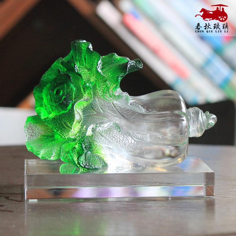 一件代发貔貅玉白菜琉璃摆件家居创意办公室摆件店铺开业礼品