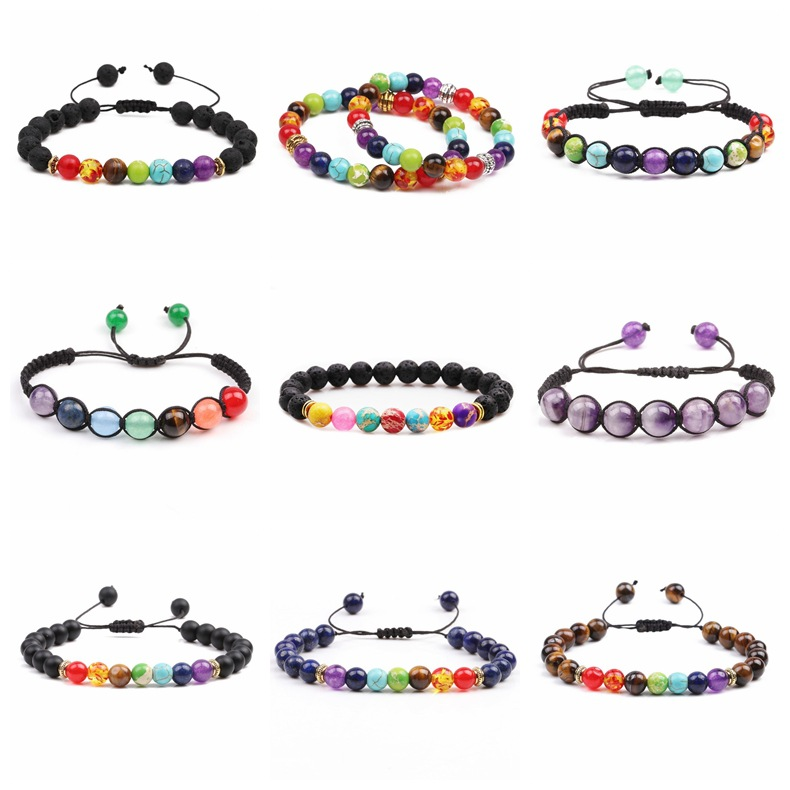 Unisex Geometric Handmade Natural Stone Bracelets amp Bangles YL190422118602