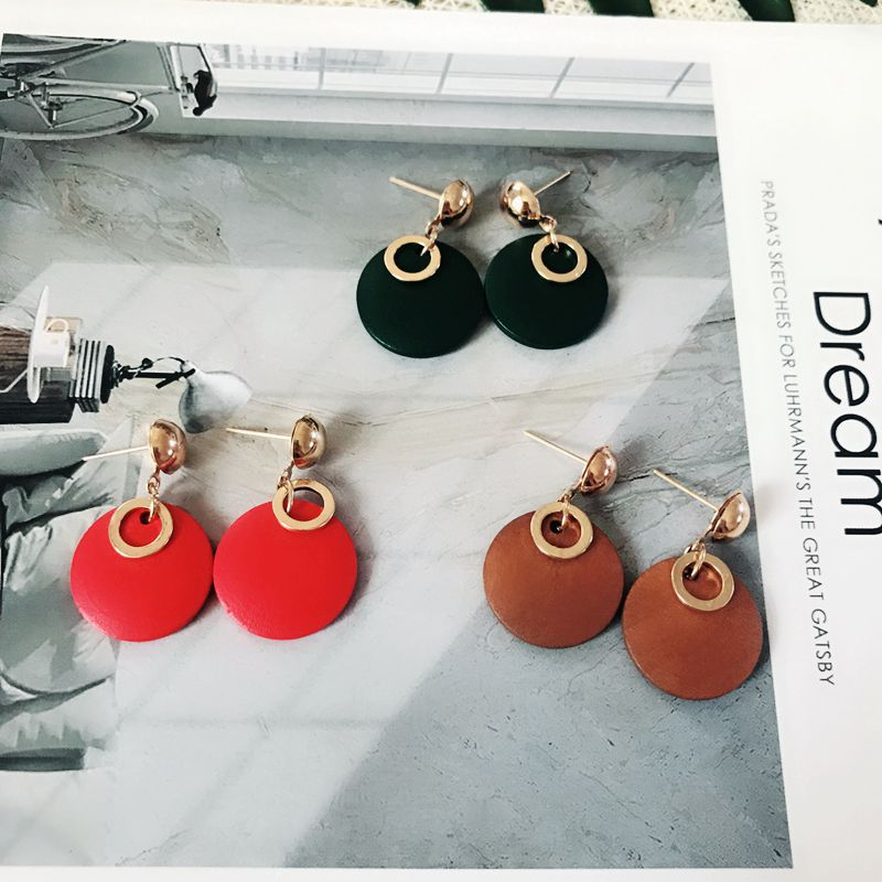 Alloy Fashion  earring  (red) NHOM0819-red