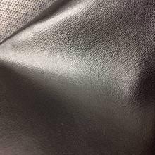 PU黑色納帕紋 PVC箱包革面料 皮革 PU革 羊紋皮革 軟皮 家具面料