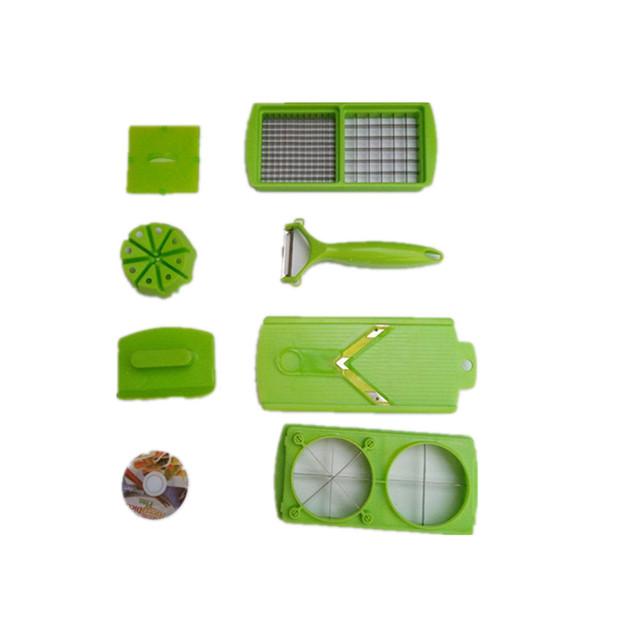 Artifact thực tiễn cụ nhà bếp nấu ăn Multi-chức năng bảo vệ cắt tay 12 mười mảnh phù hợp với shredder phù hợp Dao và kéo