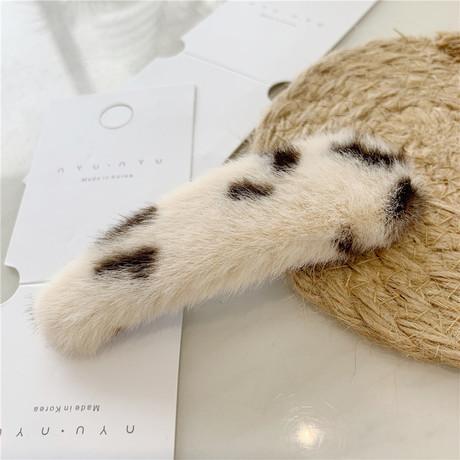 Dongdaemun, Hàn Quốc Màu da báo giả thỏ lông clip thả nước BB clip kẹp tóc bangs clip phụ kiện tóc phụ kiện tóc