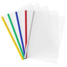 文件夹拉杆夹A4抽杆夹多层透明袋插页试卷夹资料册10个装办公用品