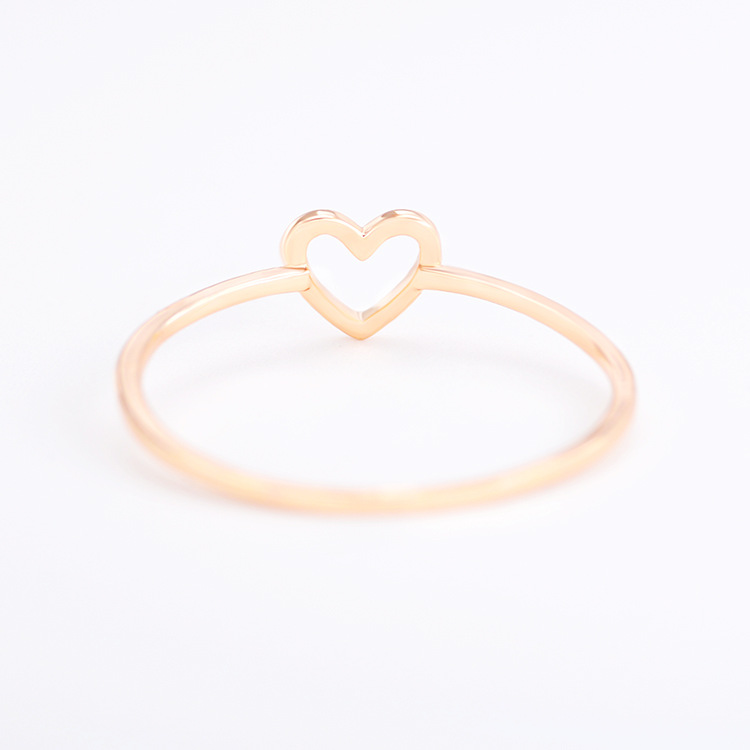 Womens Heart-shaped Electroplated Copper Rings NHDP157510
