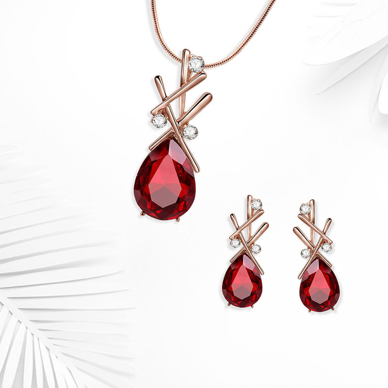 Alloy Korea  necklace  61172512 red NHXS169361172512red