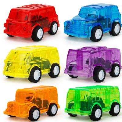 厂价直销 回力功能塑料透明小车 6款随机迷你小汽车批发 淘宝赠品